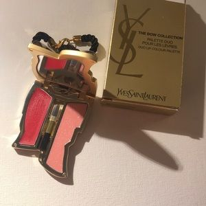 YSL bow collection duo palette lipstick bag charm